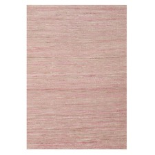 Paradis Pink 100% Pure Hemp Scandinavian Style Flatweave Rug