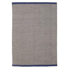 Navy Alpine Scandinavian Wool Flat Woven Rug