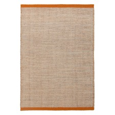 Alpine Rust Pure Wool Scandinavian Style Flatweave Rug