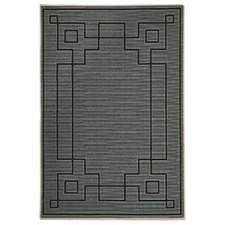 Kakadu Maze Teal indoor/Outdoor Rug