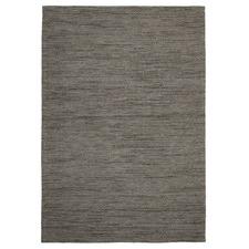 Elias Scandinavian Style Wool and Jute Grey Rug