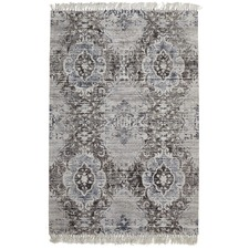 Elinor Scandinavian Style Viscose and Cotton Charcoal Rug