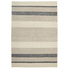 Holm Scandinavian Style Cotton and Wool Blue Rug