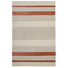 Holm Scandinavian Style Cotton and Wool Copper Rug