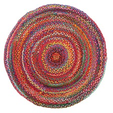 Flavour Jasmine Hand Braided Multi Coloured Rug