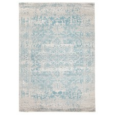 Bone, White & Blue Art Moderne Cezanne Rug