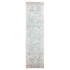 Bone, White & Blue Art Moderne Cezanne Runner