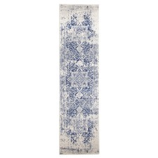 Bone, White & Navy Art Moderne Cezanne Runner