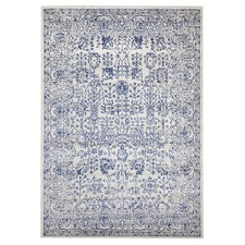 Blue Art Moderne Lalique Rug