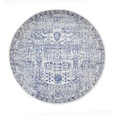 Blue & Round Art Moderne Lalique Rug