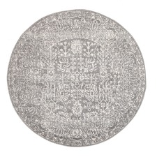 Grey & Round Art Moderne Lalique Rug