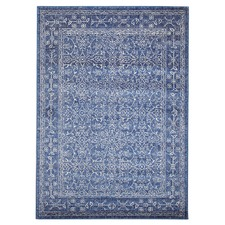 Navy Art Moderne Belle Rug