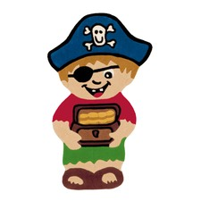 Pirate Shaped Designer Multi Rug
