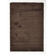 Chocolate Brown Polypropylene Rug