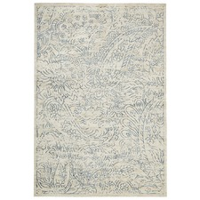 Paisley Blue Digital Print Rug