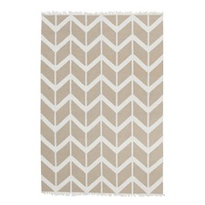 Imogen & Baker Beige Soft Cotton Reversible Rug
