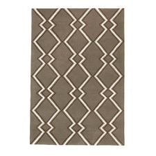 Imogen & Baker Taupe Pure Wool Rug