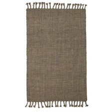 Finn Green Modern Wool & Jute Rug
