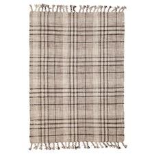 Anneka Green Modern Wool & Cotton Rug
