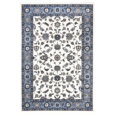 Classic Rug White with Blue Border