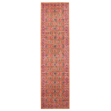 Rust & Pink Power Loomed Distressed Modern Runner