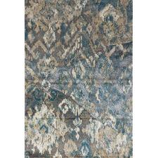 Manie Blue, Silver & Gold Heat Set Polypropylene & Art Silk Rug