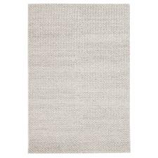 Caterina Grey Hand Woven Sumac Weave Wool & Viscose Rug