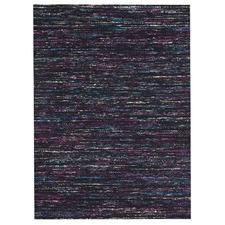 Joanna Black & Multi Hand Loomed Upcycled Sari Silk Rug