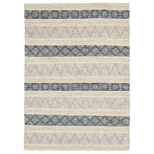 Jean Blue, Yellow & Grey Hand Loomed Rug