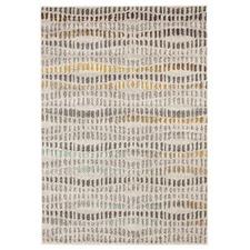 Linh Gold, Neutral & Violet Durable Modern Rug