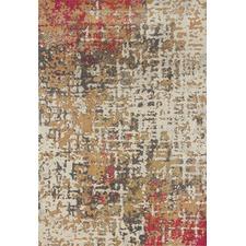 Veda Rust, Pink Durable Modern Rug