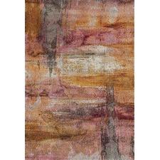 Edie Rust & Pink Durable Modern Rug