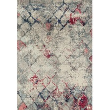 Johnnie Blue, Grey & Pink Durable Modern Rug