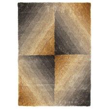 Waneta Grey & Gold Hand Tufted Soft Modern Rug