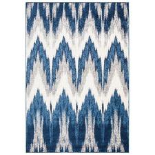Purus Blue Soft Power Loomed Modern Rug