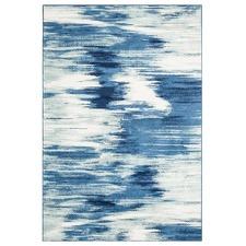 Salween Blue Soft Power Loomed Modern Rug