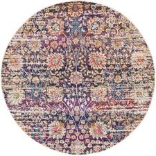 Zaire Colourful Power Loomed Modern Round Rug