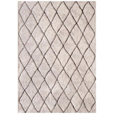 Chocolate & Natural Otis Power Loomed Easy Care Modern Rug
