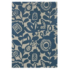 Ink Kukkia Hand Tufted Wool Rug