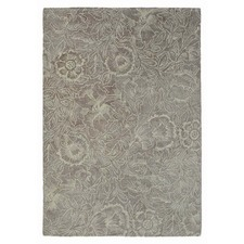 Taupe Poppy Hand Tufted Wool Rug