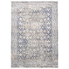 Blue Power Loomed Rug