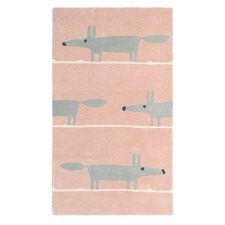 Blush Mr Fox Hand Tufted Wool Rug