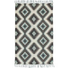 Byron Hand Loomed Flatweave Pure Cotton Rug