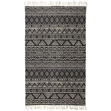 Emerald Hand Loomed Flatweave Pure Cotton Rug