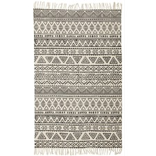 Hicks Hand Loomed Flatweave Pure Cotton Rug