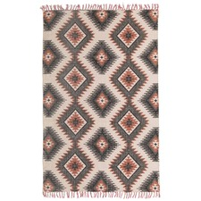 Hasen Hand Loomed Flatweave Pure Cotton Rug