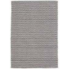 Gangin Black & White Hand Loomed Cotton Rug