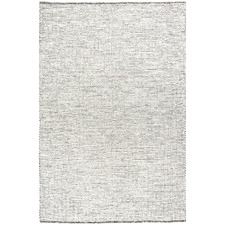 Black & White Felted Wool Scandi Rug