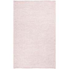 Pink & White Felted Wool Scandi Rug