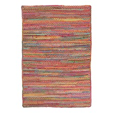 Bohemian Jasmine Hand Braided Multi Coloured Rug